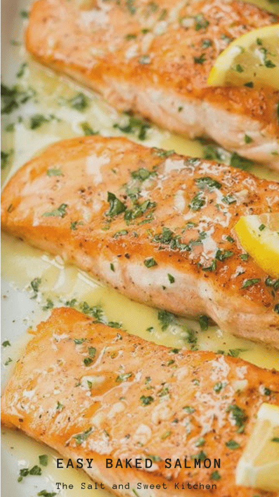 The secret to tasty baked salmon is in the cook-time. Avoid over-cooking so the fillets stay moist. Don't stay to far from the oven because salmon fillets tend to cook very quickly