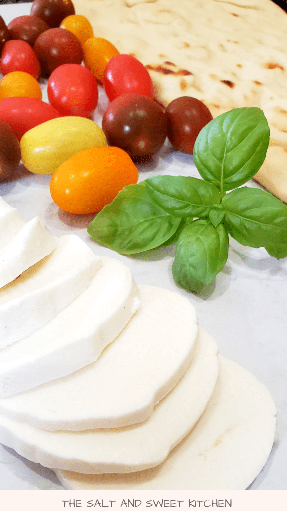 How to make a caprese style flatbread