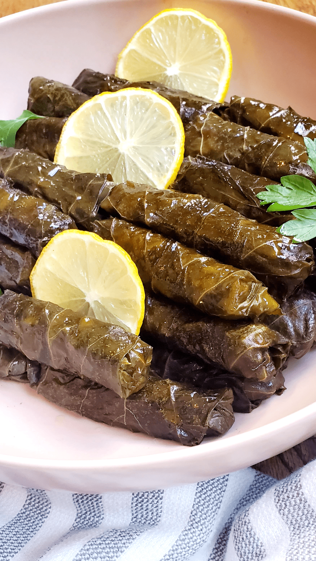 Vagetarian Stuffed Grape Leaves The Salt And Sweet Kitchen