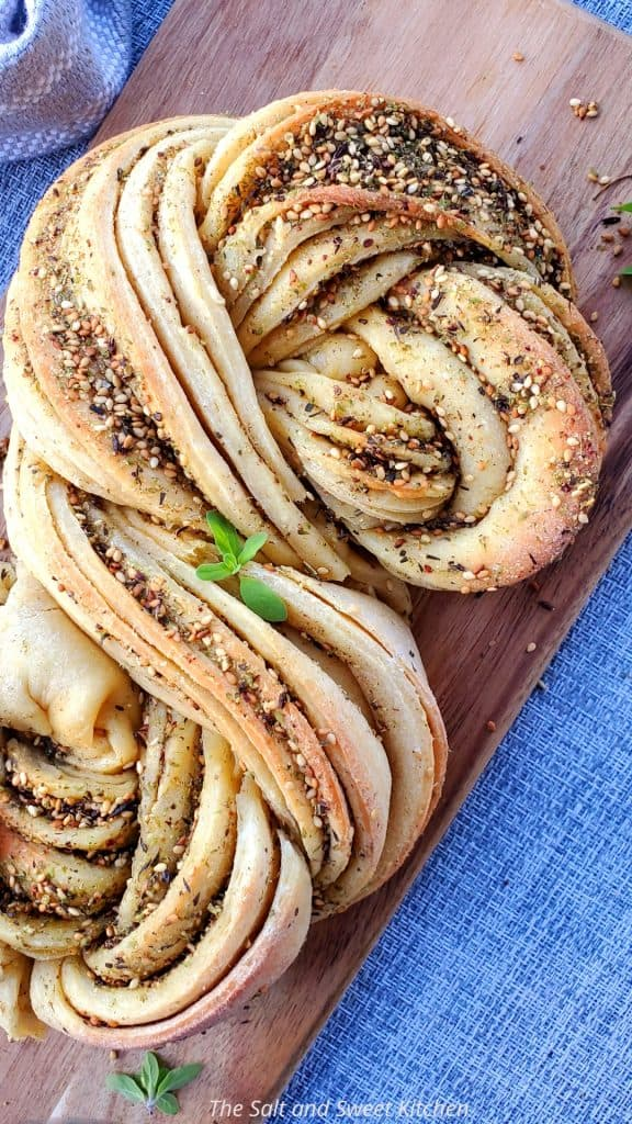 If you are looking for a Zaatar recipe to make a Zaatar bread, you will love this Zaatar Swirl Bread.