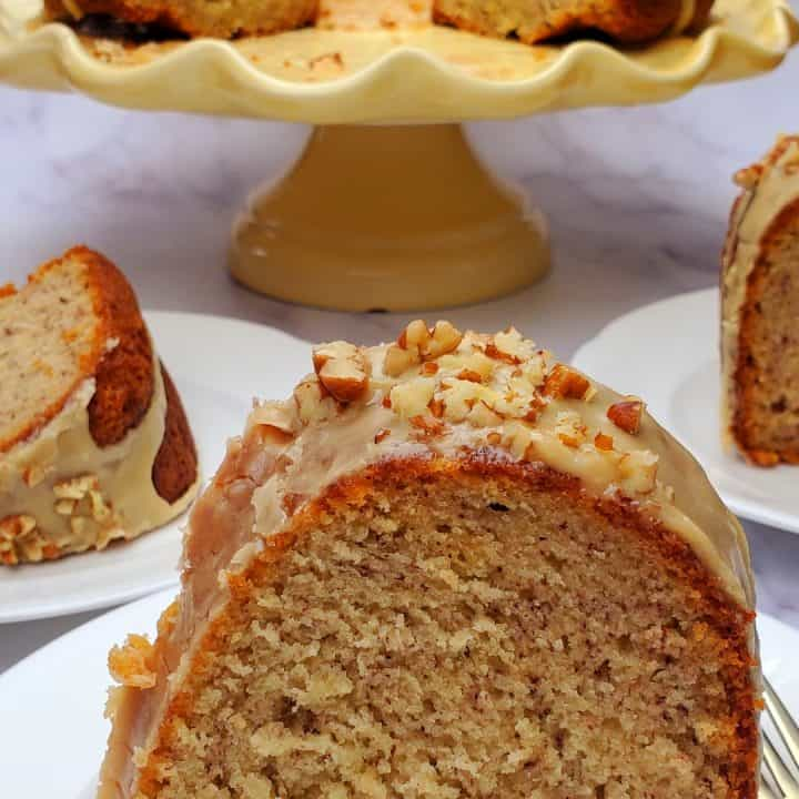 if you are looking for the best banana cake recipe, you will love this easy banana cake with brown sugar glaze.