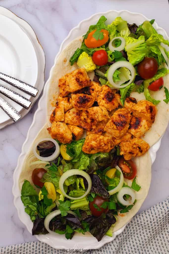 Tawook chicken recipe with the best tawook marinade.
