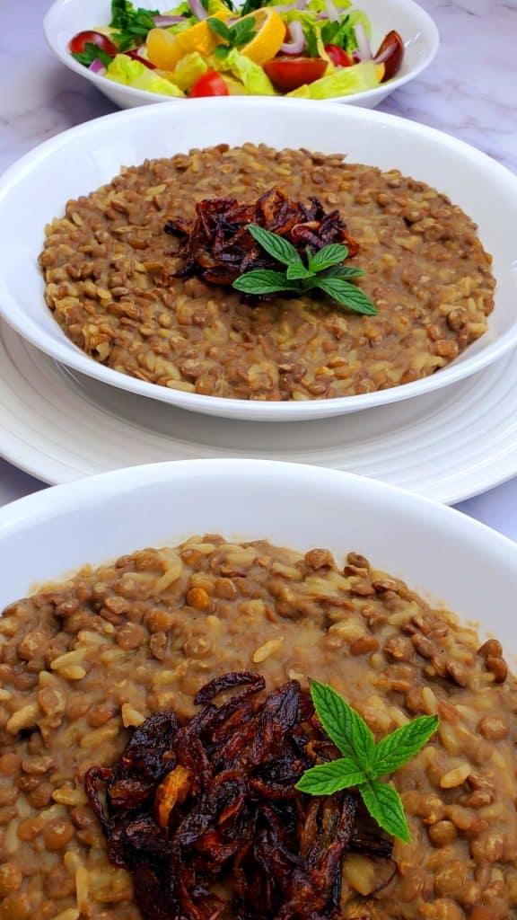If you are looking for vegan lentil recipes, you will love this Lebanese Mujadara.