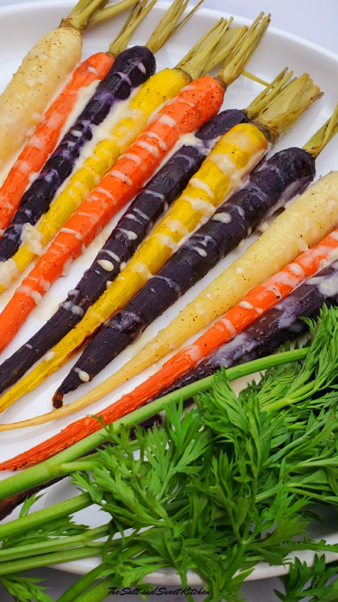 Rainbow Carrots with Tahini Sauce