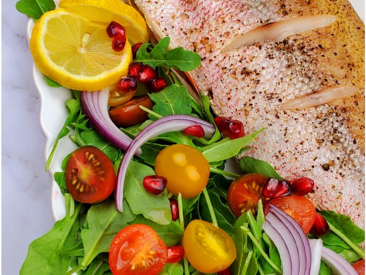 Whole red snapper recipe baked.