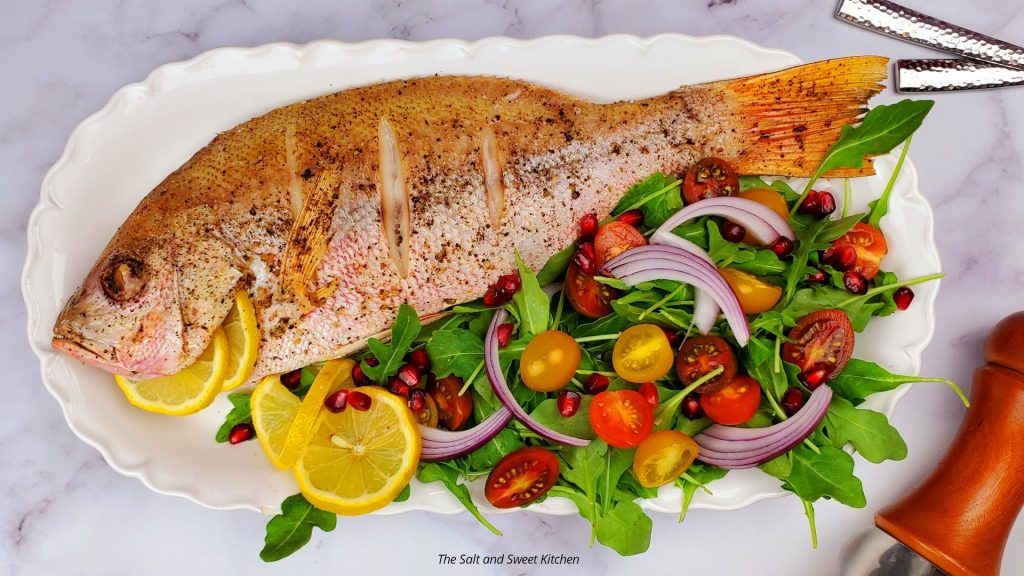 How to bake a whole red snapper.