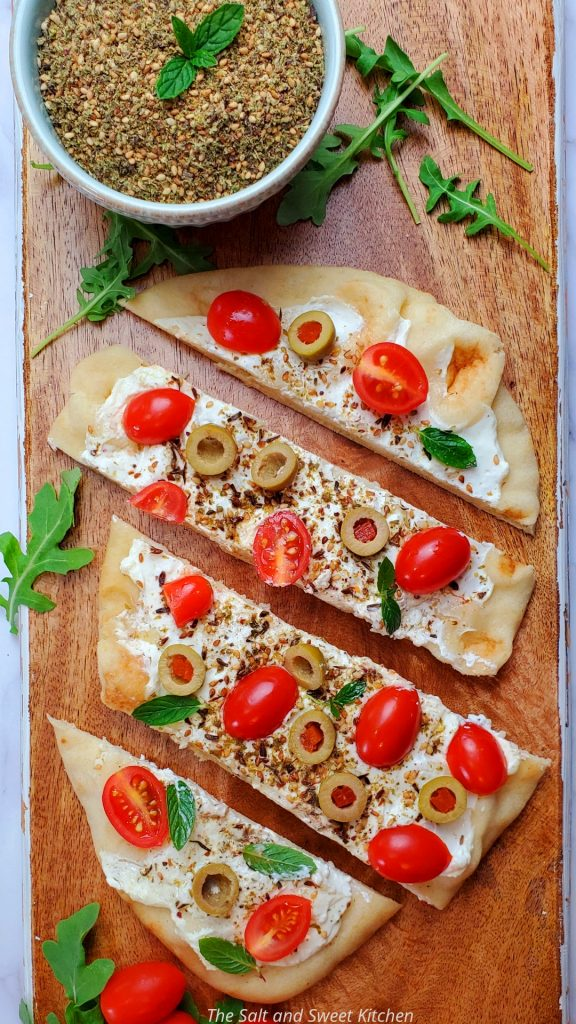 If you are looking for naan flatbread recipes, you will this labneh flatbread with zaatar recipe.