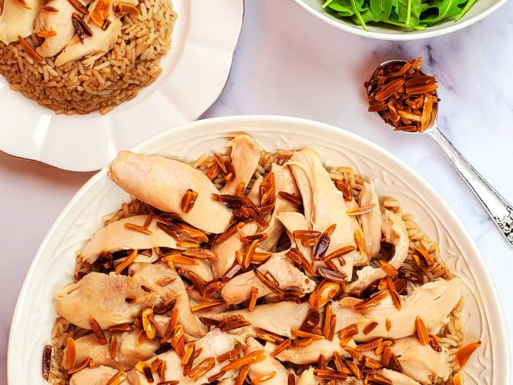 If you are looking for Lebanese chicken recipes, you will love this Lebanese chicken and rice recipe.