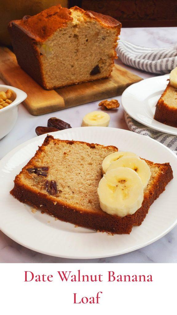 banana cake/ date walnut banana loaf.
