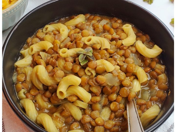Are you looking for the best lentil soup recipe? This vegan lentil soup with pasta is the answer!
