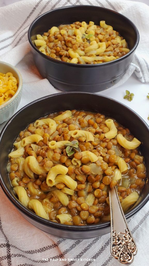 If you are looking for vegan soup recipes, you will love this vegan lentil soup recipe with small pasta.