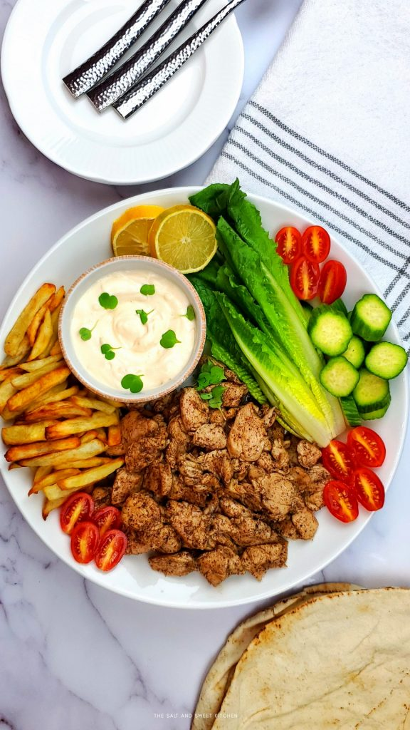 Lebanese Chicken shawarma recipe with the best chicken marinade.