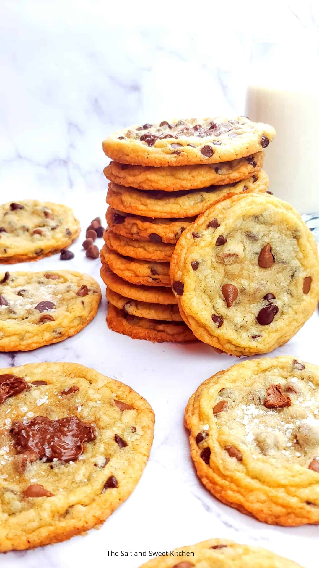 Thin Brown Butter Chocolate Chip Cookies
