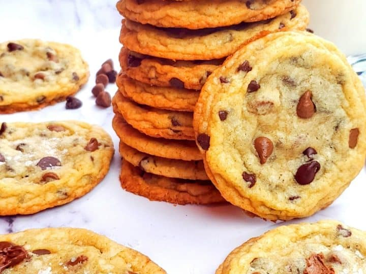 Thin Chocolate Chip Cookies.