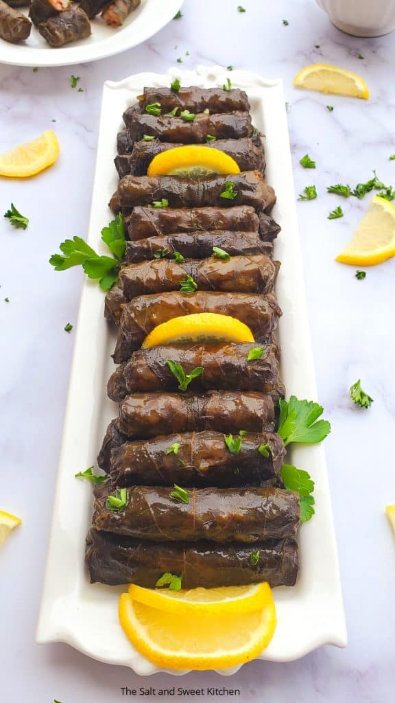 Grape leaves stuffed Lebanese- Warak enab recipe.