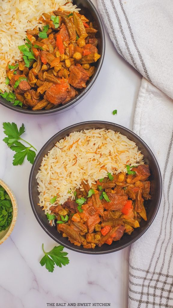 If you are looking for Lebanese stew recipes, you will love this Lebanese Okra stew recipe.