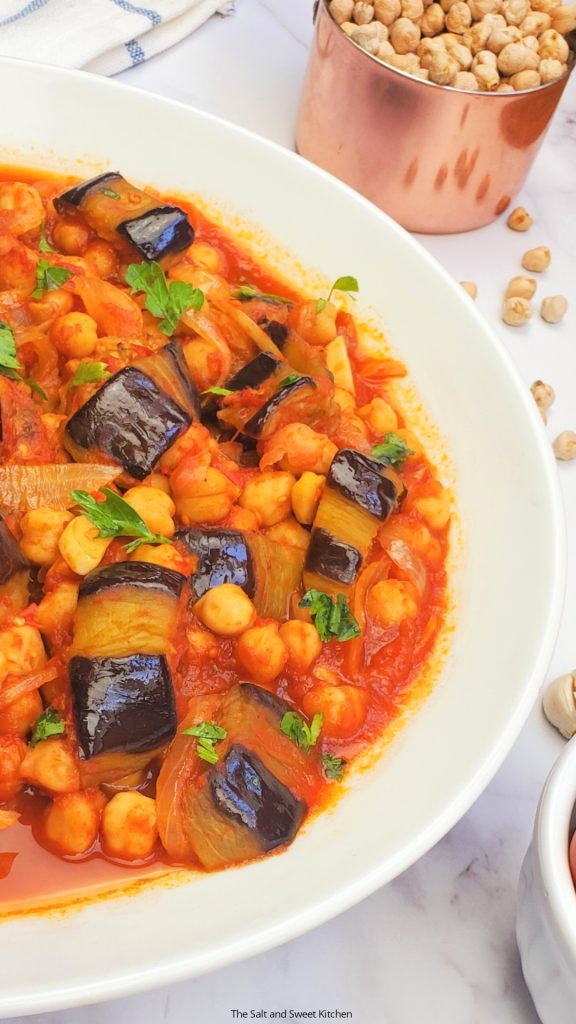 If you are looking for Lebanese eggplant recipes, you will love this Lebanese eggplant stew.