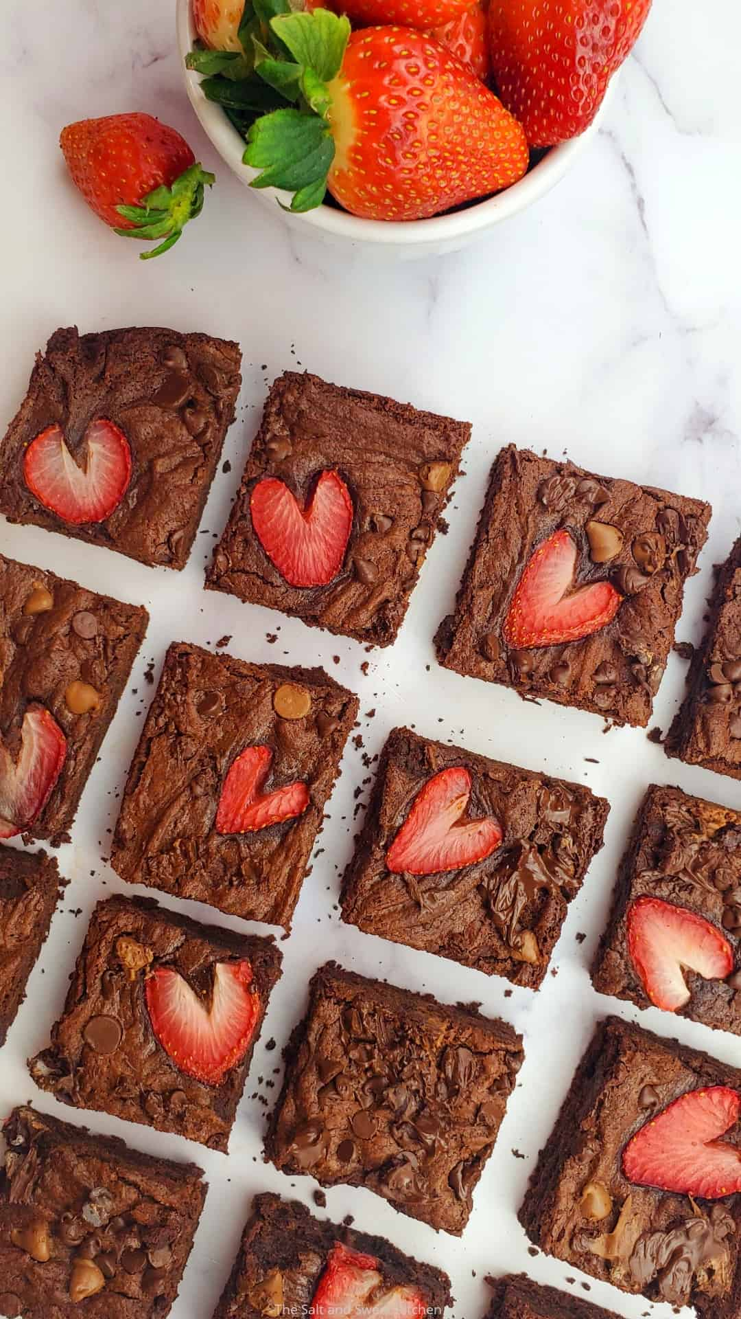 Strawberry Chocolate Brownies