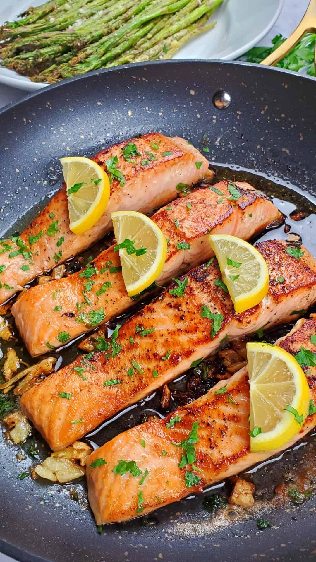 Pan Seared Salmon with Garlic Butter