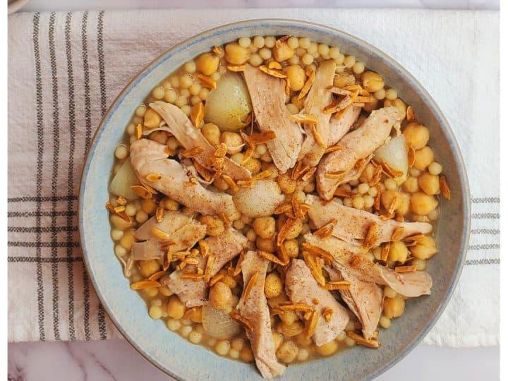 moghrabieh recipe-mograbieh chicken recipe