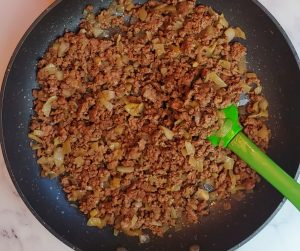 ground beef for stuffed artichokes.