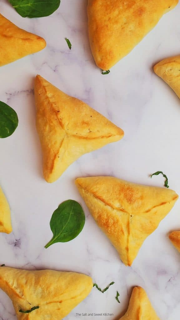 Lebanese Spinach pies, also known as fatayer bi sabanekh with the best fatayer dough recipe!