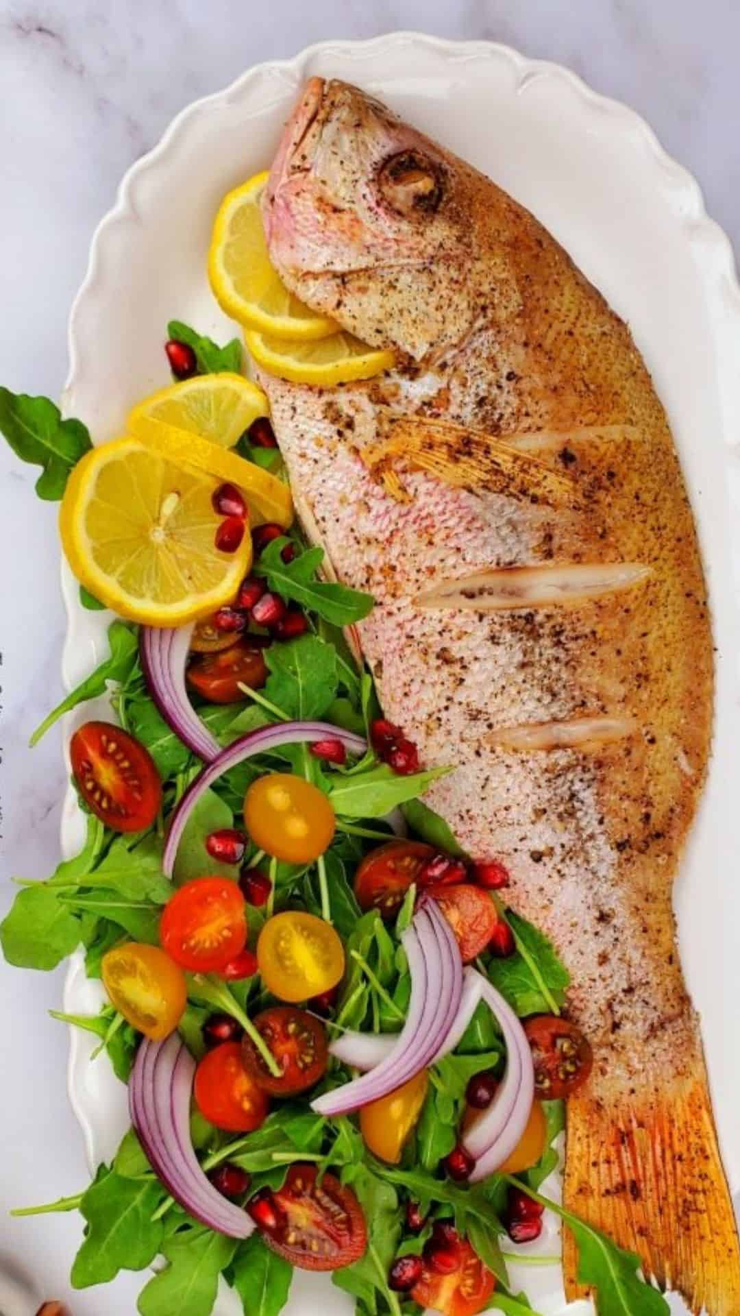 Roasted Whole Red Snapper