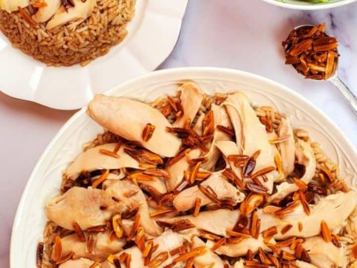 Lebanese chicken and rice- riz a djej