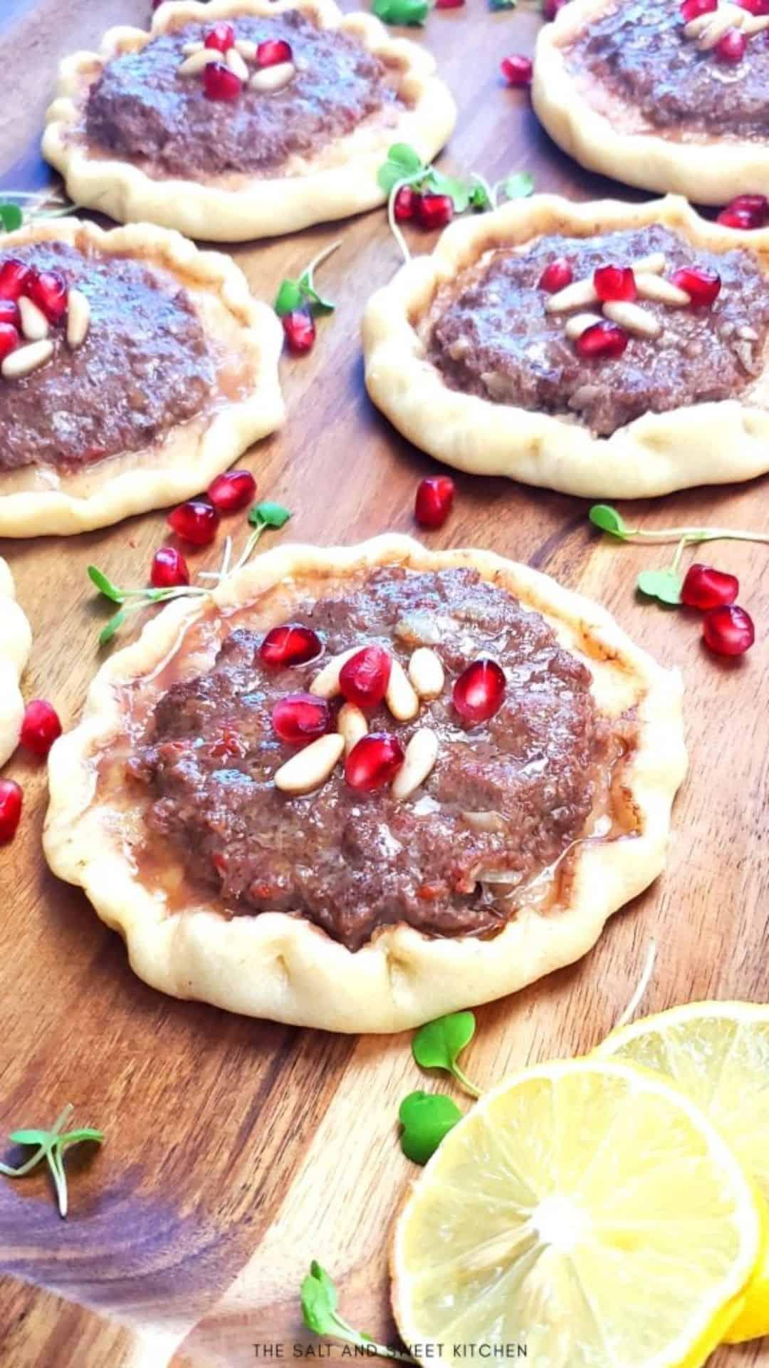 Lahm bi Ajeen- Lebanese Meat Pies