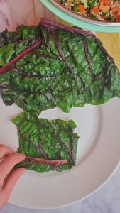 rolled swiss chard
