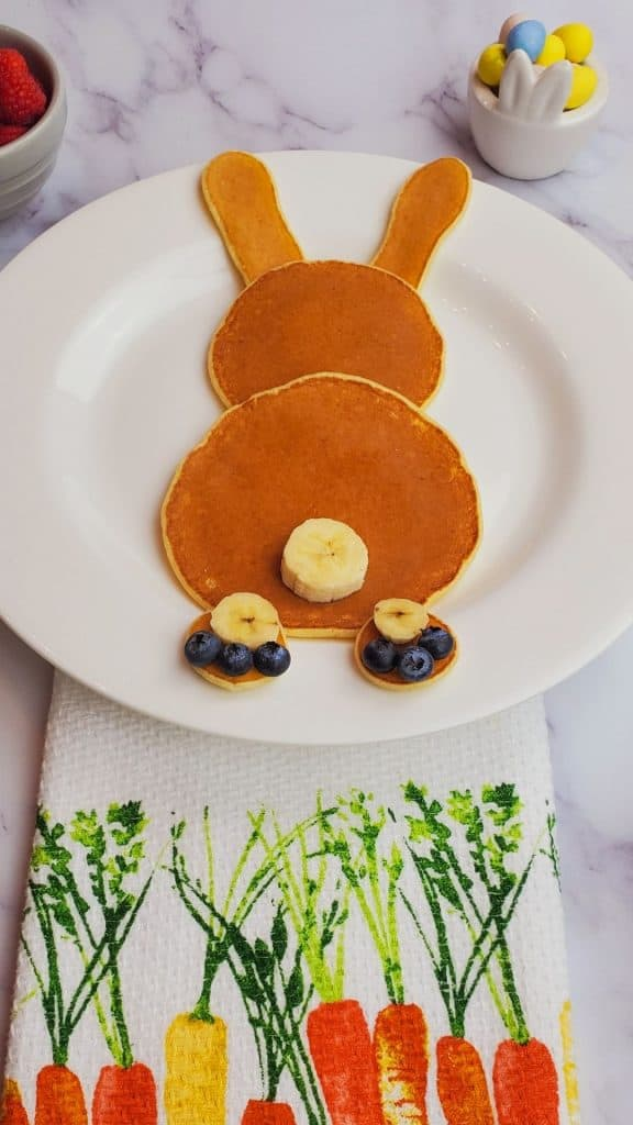 Easter pancakes bunny- the best homemade pancake recipe.