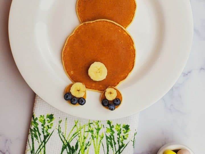 Easter recipes- Easter Bunny Pancakes- Easter Pancakes- Easter recipes kids.