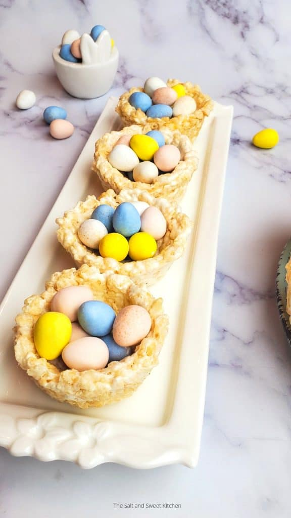 Easter egg nests rice krispies- rice krispies recipes.