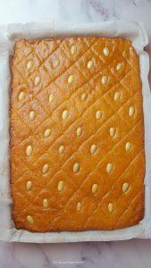 namoora- basbousa covered with sugar syrup