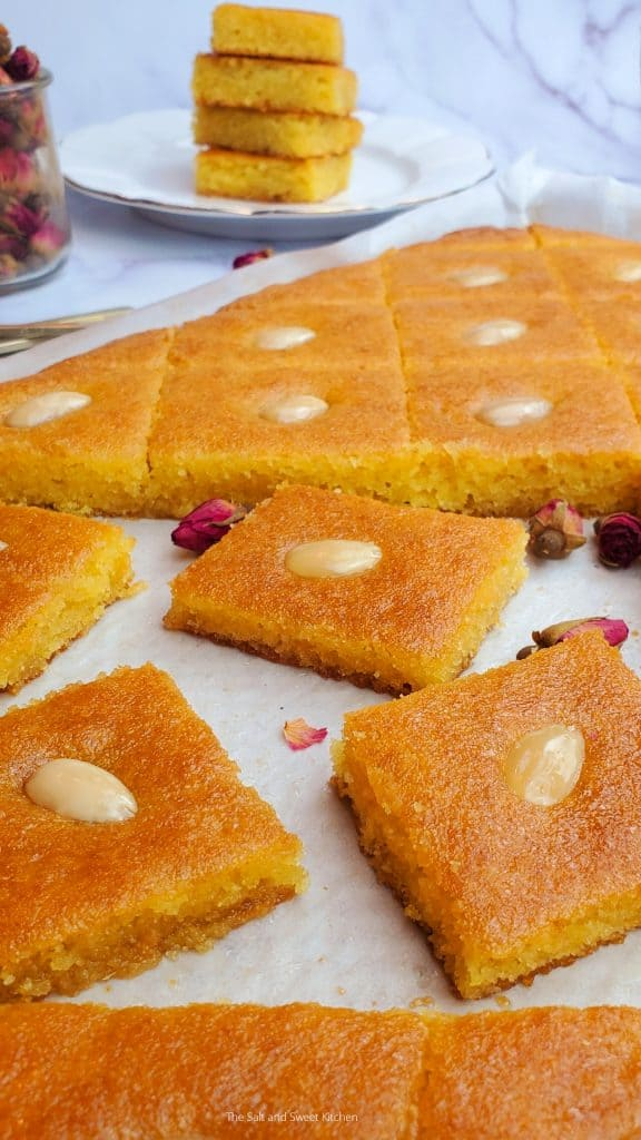 Namoura Lebanese- Basbousa arabic Sweets- Basbousa Cake