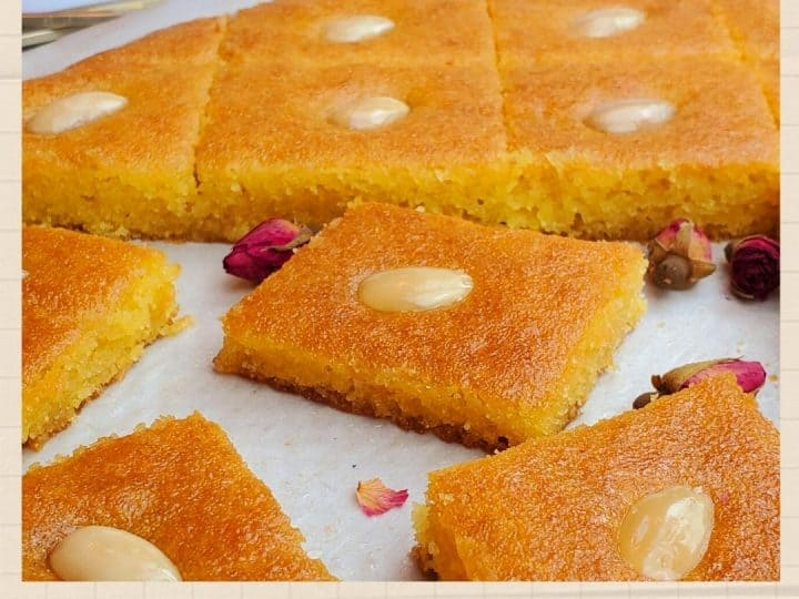 Semolina cake recipe- Harissa semolina cake- Namoura cake