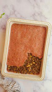 assembling baked kibbeh