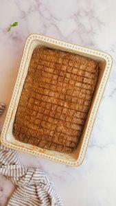 baked kibbeh tray