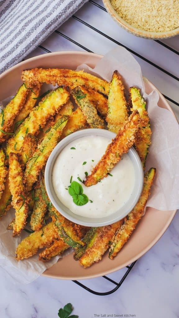 parmesan zucchini fries air fryer