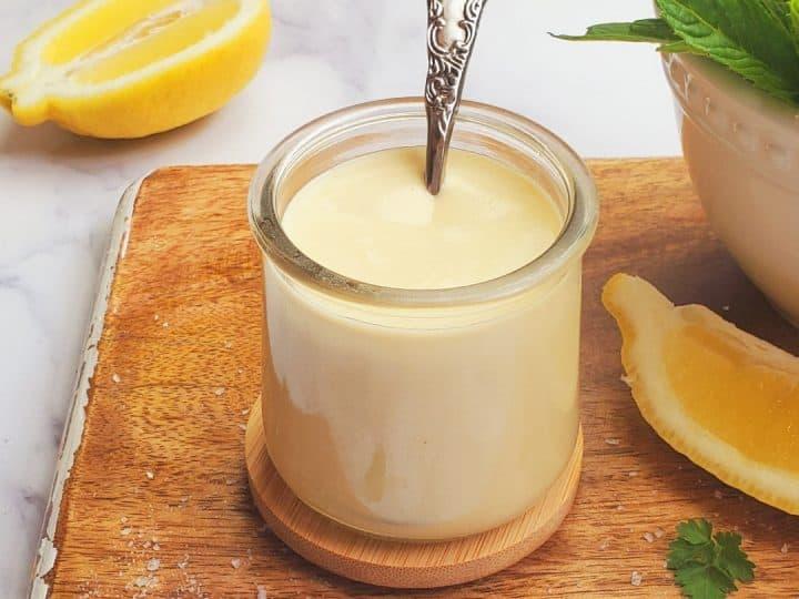 lemon tahini dressing- falafel dressing