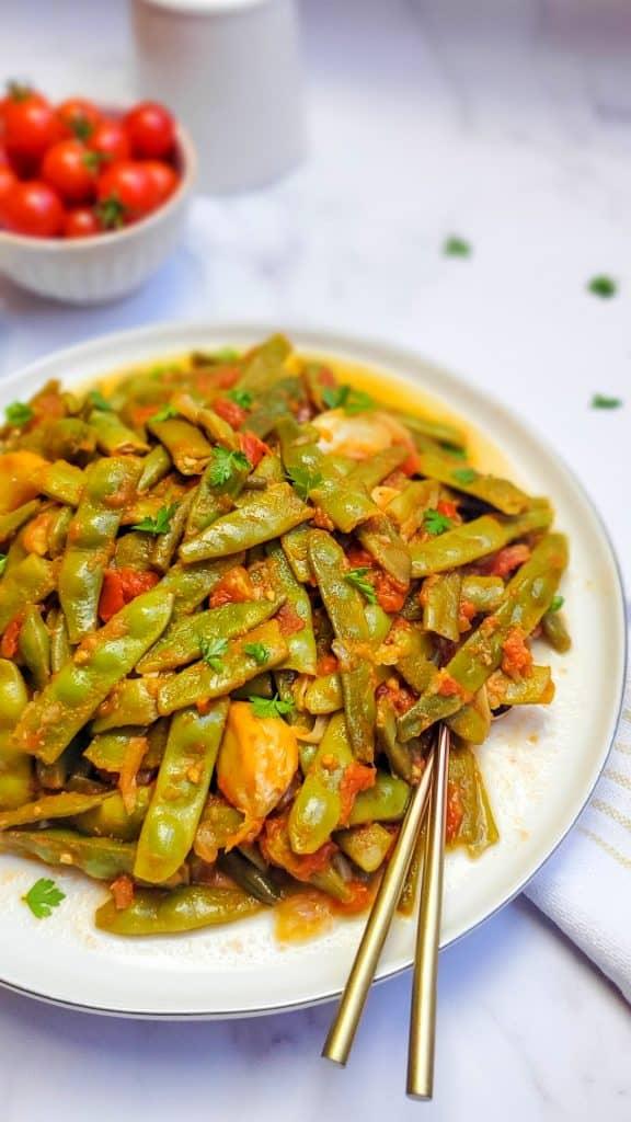 braised Italian green beans- loubie bzeit
