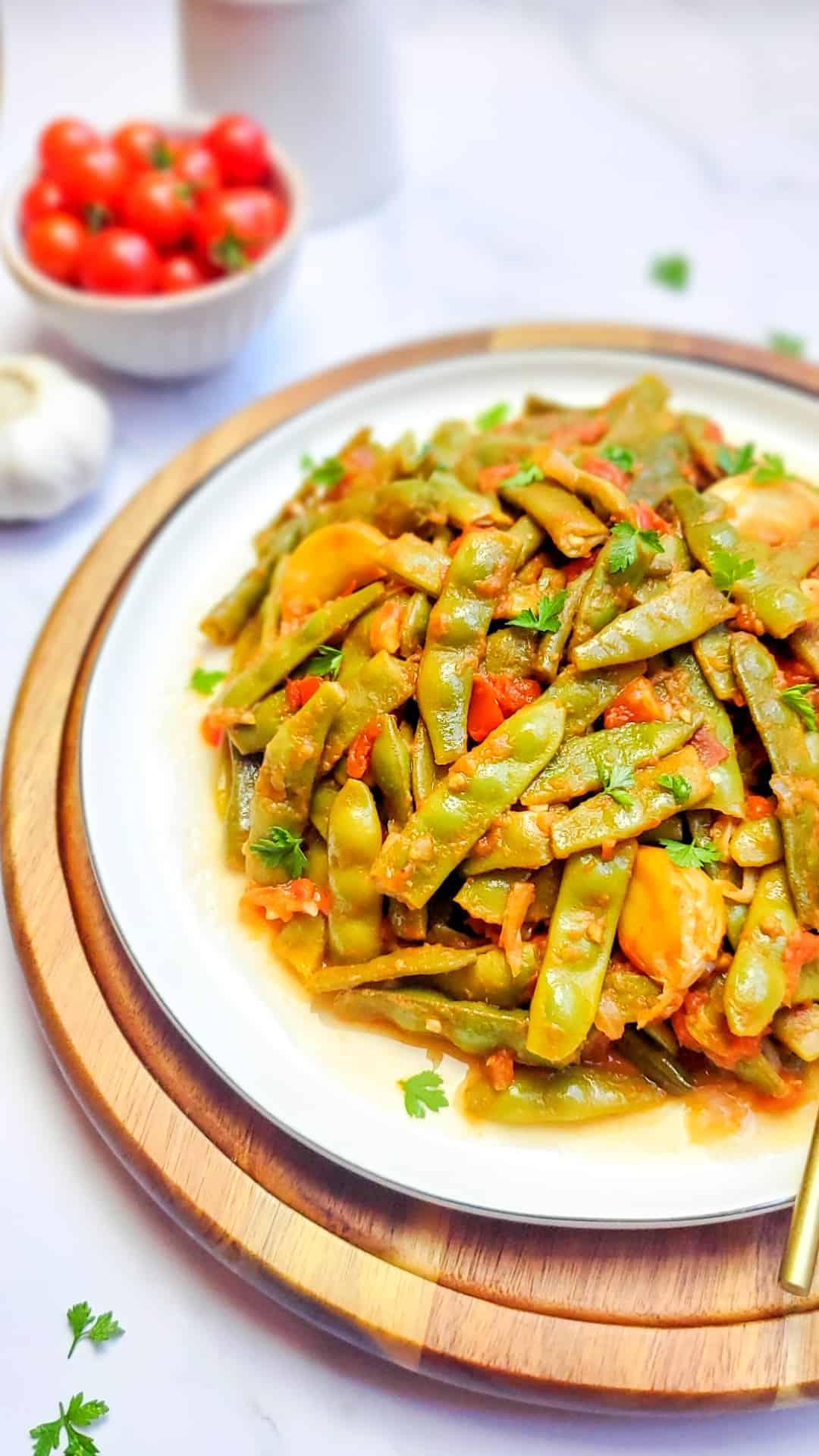 Loubie Bzeit- Braised Green Beans